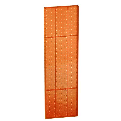 (Azar 771344-ORG Pegboard 1-Sided Wall Panel, Orange Translucent Color, 2-Pack)