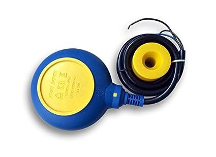 Interruptor de flotador de PVC Interruptor de nivel Interruptor de palanca Cable: 10m 250V 16A: Amazon.es: Amazon.es