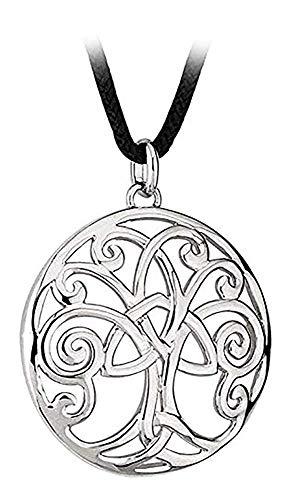 Biddy Murphy Tara Celtic Tree of Life Necklace Rhodium Plated 18