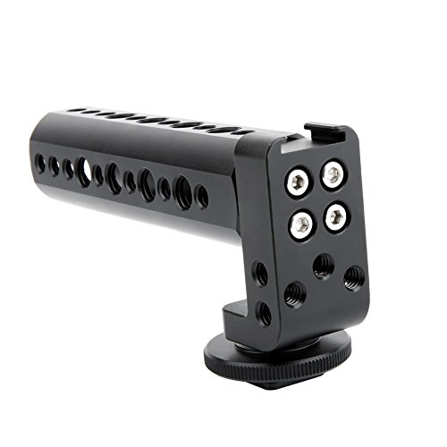 NICEYRIG Hot Shoe Cheese Handle for DSLR Camera Applicable Canon 5d 7d 60d 70d Compatible with Nikon D800