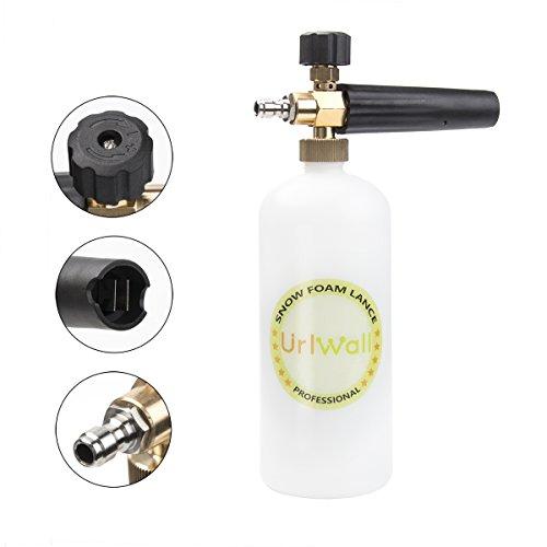 Adjustable Foam Cannon, URLWALL 1 Liter Car Wash Pressure Bottle Snow Foam Lance With 1/4 Quick Connector Foam Blaster for Pressure Washer Gun by URLWALL (Image #1)