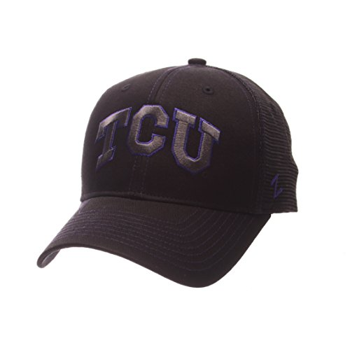 NCAA TCU Horned Frogs Adult Men's Staple Trucker Blackout Cap, Adjustable Size, (Frog Trucker Hat)