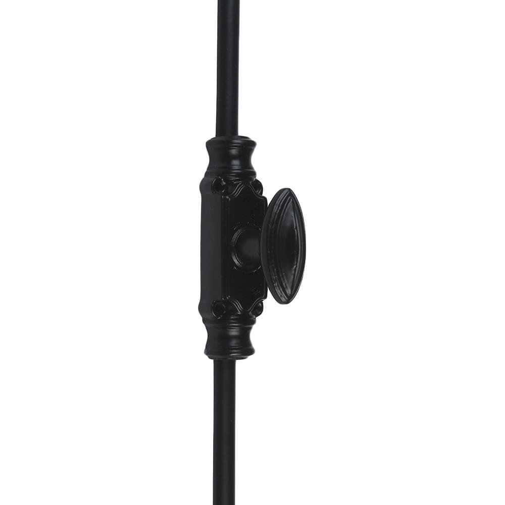 A29 Hardware 6 Feet Cast Iron Plain Style Window Cremone Bolt, Black Powder Coat Finish