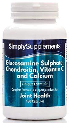 Glucosamina, Condroitina, Vitamina C y Calcio - 360 comprimidos (Dos frascos de 180