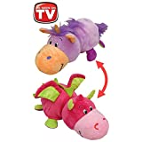 """AS SEEN ON TV! FlipaZoo 16"""" Plush 2 in 1 Pillow - Lavendar Unicorn Transforming to Pink Dragon (The Toy That Flips For You)"""