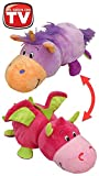 FlipaZoo 16 Plush 2 in 1 Pillow - Lavendar Unicorn Transforming to Pink Dragon (The Toy That Flips For You)