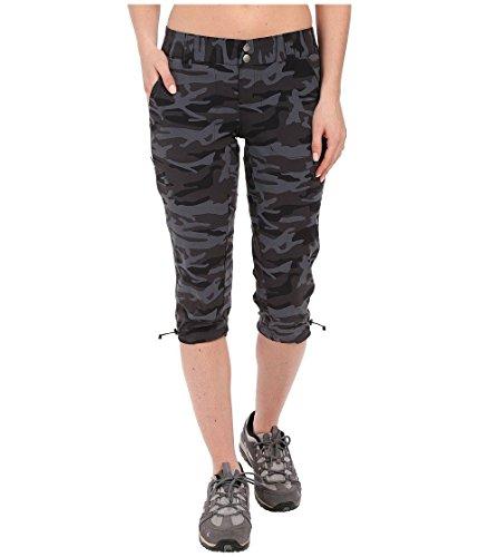 Columbia Womens Saturday Trail Printed Knee Pants, 2 x 18, Black Camo