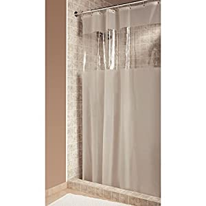 interdesign hitchcock shower curtain wide 108 x 72 clear home kitchen. Black Bedroom Furniture Sets. Home Design Ideas