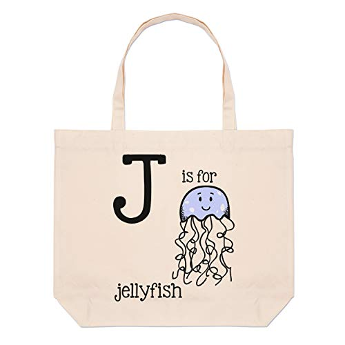Letter Large Tote Jellyfish Bag Beach For Is J qF7qUwAP1