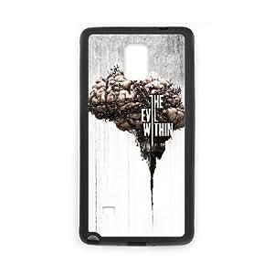 Funda Samsung Galaxy Note caja del teléfono celular 4 Funda Negro el mal dentro de C6X4ET