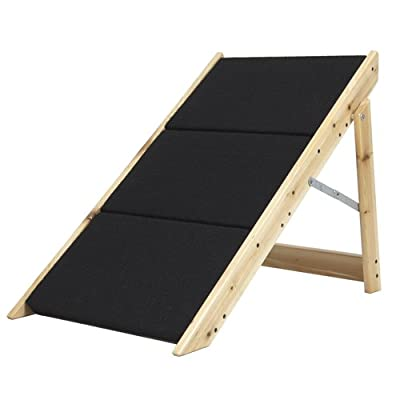 Best Choice Products® Folding 2-in-1 Pet Ramp & Stairs for Dogs Cats Pet Steps Ladder Animal Portable
