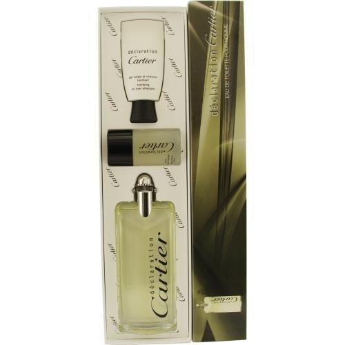DECLARATION by Cartier Cologne Gift Set for Men (EDT SPRAY 3.3 OZ & ALL OVER SHAMPOO 1.6 OZ & (Declaration Spray Shampoo)