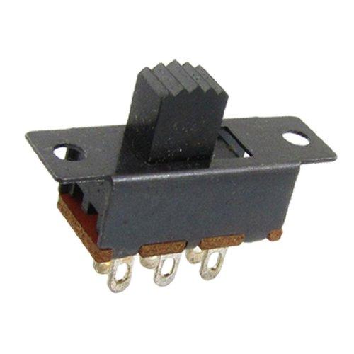 N 2 Position DPDT 2P2T Slide Switch 6 Solder Lug ()