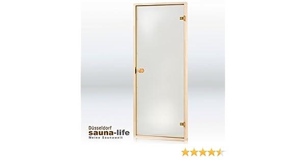 Sauna puerta de cristal