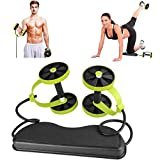 ASGV Abdominal Power Roll Trainer Waist Slimming Exerciser Core Double Wheel Fitness for Abdominal Core Strength Exercise