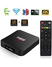 Android TV BOX, T95 S1 TV BOX 1GB RAM/8GB ROM Android 7.1 Amlogic S905W Quad Core Soporte 2.4Ghz WiFi H.265 4K HDMI DLNA Mini TV BOX