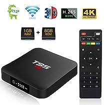 T95 S1 TV Box Androide 7.1 Amlogic S905W Quad Core 1GB DDR/8GB eMMC scatola TV Intelligente con Telecomando H.265 WiFi 4K HDMI Media Player