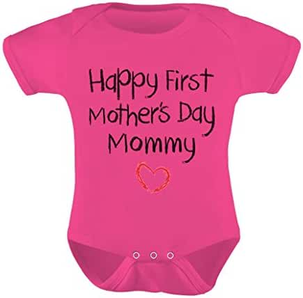 TeeStars Happy First Mothers Day Mommy Bodysuit Baby Onesie