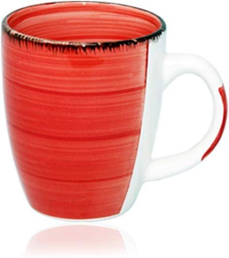 350 ml in tollen Farben f/ür Ihr liebstes Hei/ßgetr/änk f/ür Kaffee Cappuccino und Latte Macchiato Bunt 45544 Tas DRULINE 6er Set Kaffeetasse Kaffee Tee Milch Kakao Keramik Becher Tassen Pott Premium Porzellan Uni bunt Modernes Design ca