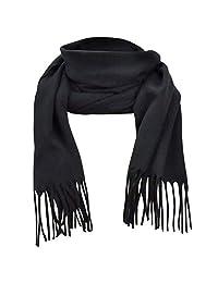 Hold'Em Scarfs for Women Men Cashmere feel Winter Shawl Warm Light-Black