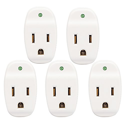 (KMC Surge Protector Adapter, 640Joule, Power Plug Adapter,Grounded 1-Outlet Tap (5 Pack))