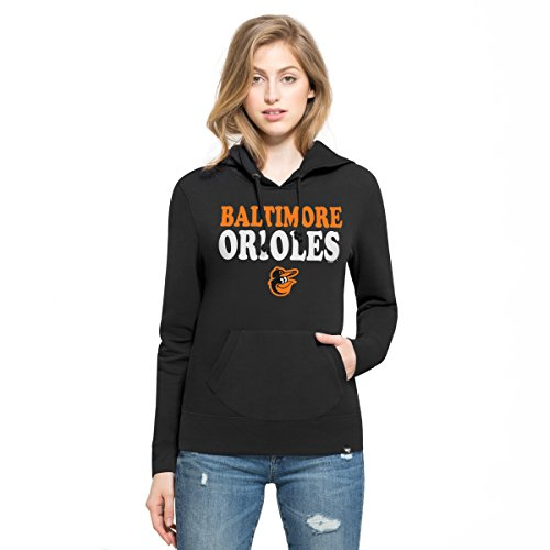 '47 MLB Baltimore Orioles Women's Headline Pullover Hoodie, Jet Black, X-Large ()