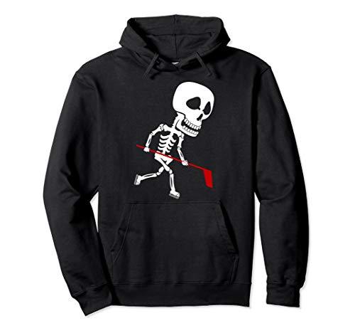 Ice Hockey Skeleton Hoodie | Cool Halloween Costume -