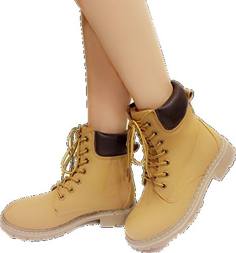 Short Up Martin Combat Broadway Hiking Waterproof Slip Ankle Lace 7 Shoes 3 Cuff Resistant Forever Boot Women's Outdoor Padded Eyes Boot Work CqRqf