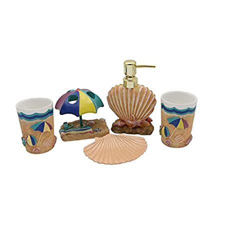 412ixMk-HiL._SS450_ 50+ Beach Bathroom Accessory Sets and Coastal Bathroom Accessories