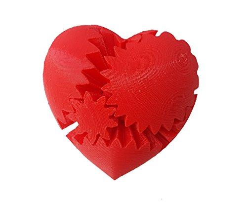 Virginia Heart Watch - 3D Central - Rotating Heart Gear Fidget Toy 3D Printed