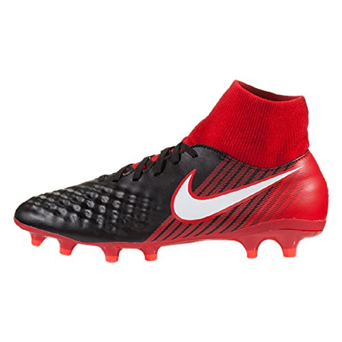 NIKE Magista Onda II DF FG Mens Football Boots 917787 Soccer Cleats (UK 11 US 12 EU 46, Black White University red 061)