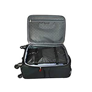 Portable//Collapsible//Foldable Travel Packing//Suitcase//Luggage Organizer-Bag Large 3-tiered Big-Gray Packable Hanging Outdoor Shelves /& Packing Cube Clothes Storage