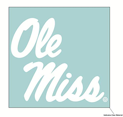 Wincraft NCAA University of Mississippi Ole Miss Rebels 6 x 6 inch White ()