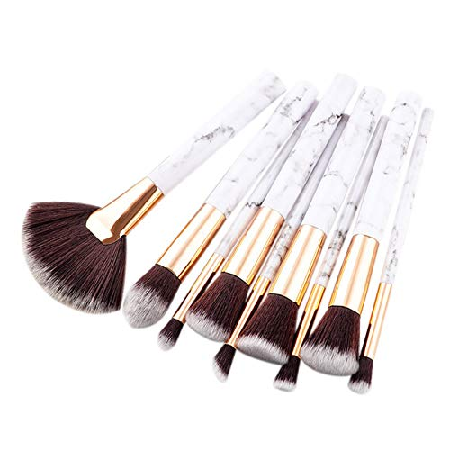2dc2950c3c15 Laliva Red Dieny 9Pcs/Set Professional Makeup Brushes Dress Up Your Beauty  Marbling Handle Eye Shadow Eyebrow Lip Comestic Tools - (Handle Color: ...