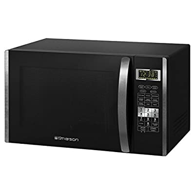 Click for Emerson MWCG1584S, 1.5 CU. FT. 1000 Watt, Touch Control with Convection & Grill, Black Stainless Steel Microwave Oven (Certified Refurbished)