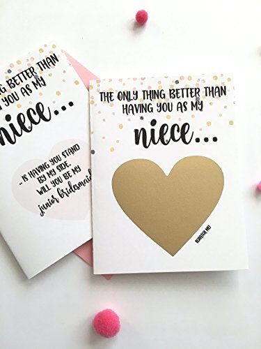 Will You Be My Junior Bridesmaid Scratch Off Card for Niece]()