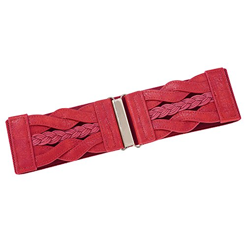 GRACE KARIN Women's Elastic Vintage Belt Stretchy Retro Wide Waist Cinch Belt