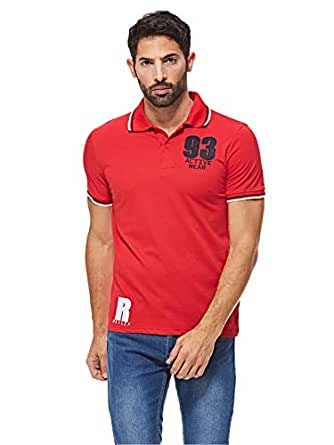 Reflex MGP60M03 Polo T-Shirt for Men, Red