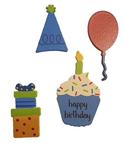 Embellish Your Story 20002M Happy Birthday Icon Magnets Set of 4 ()