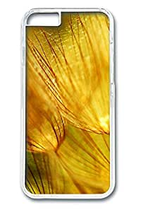 iphone 6 4.7inch Case and Cover Golden fluff PC case Cover for iphone 6 4.7inch transparent