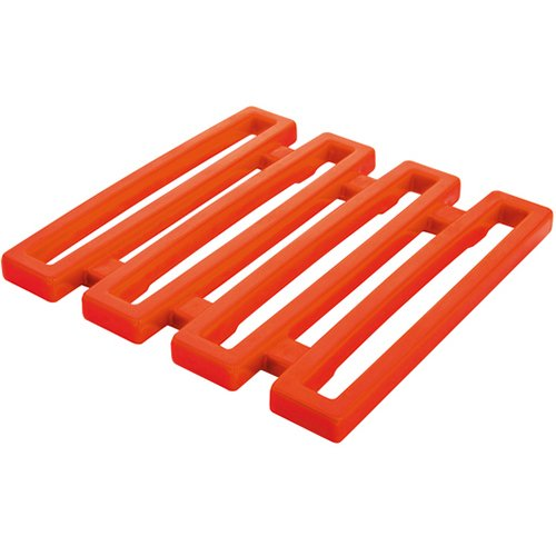 Zak Designs Hex Orange Melamine Trivet ()