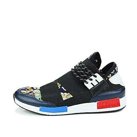 Hombres Deporte Zapatos Zapatillas de running de Forrest Gump azul azul Talla:39: Amazon.es: Deportes y aire libre