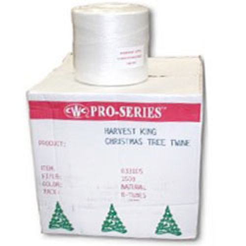 CWC Christmas Tree Twine - 6750', White (Pack of 8 rolls)