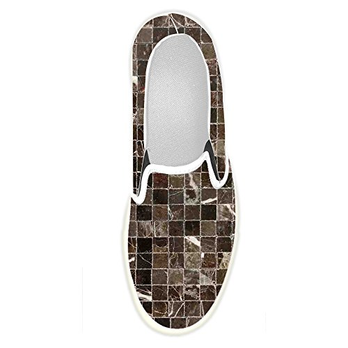 (Women's Shoes Custom Classic Mosaic Tiles Slip-on Canvas)