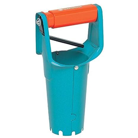 GARDENA 3487-20 - Plantador, herramienta de jardín recomendado para plantar plantones de cultivo, perforadora de hoyos con punta de metal inoxidable ...