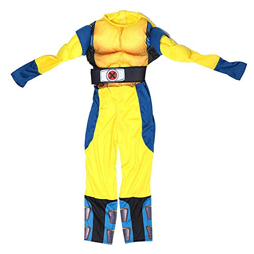 Firecos Scary Halloween Marvel Classic Collection Wolverine Costumes for Boys Kids Onesies Claw Mask Set Yellow