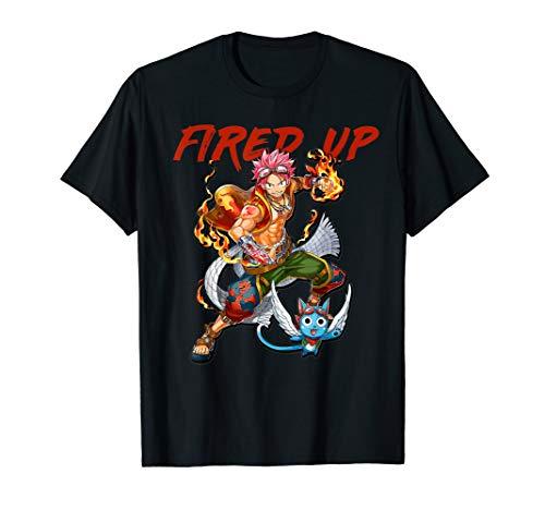 Fairys Tail Anime T-Shirt - Natsu Fired -