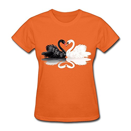 Clipart Shape Heart - BOAIS White And Black Swans With Heart Shape PNG Clipart Men's Soft Navy T-Shirt Orange Large