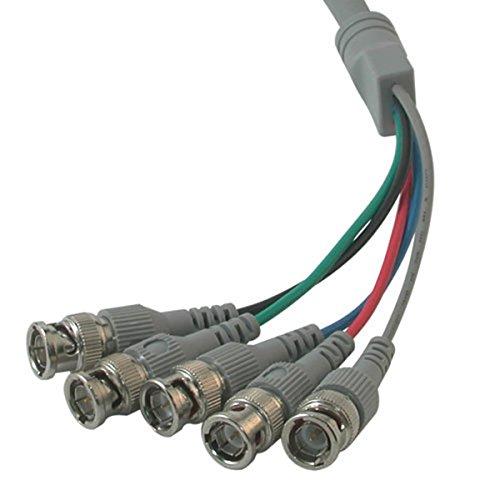 C2G 07573 Premium VGA (HD15) Male to RGBHV (5-BNC) Male Video Cable, Black (10 Feet, 3.04 Meters)