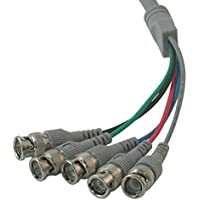 C2G/Cables to Go 07573 Premium HD15 Male to RGBHV (5-BNC) Male Video Cable (10 Feet)